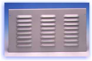 Formed Panels: 1/2 Inch Deep, 19 and 24 Inch Wide LOUVRED - perforated panels